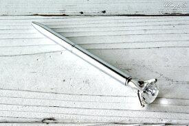 ボールペン クリスタル Crystal Ballpoint Pen Silver ダイヤモンド型 おしゃれ おもしろ 文房具 筆記用具
