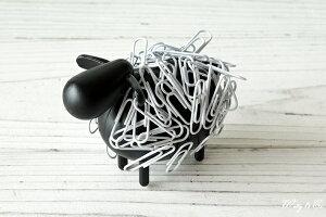 クリップ 収納ホルダー SheepClipper Black マグネット式 アニマル ひつじ 文房具 おもしろ おしゃれ 卓上 オブジェ