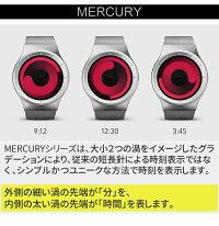 【送料無料】【日本正規代理店】ZIIIROジーロ時計マーキュリー黒/青【ドイツデザインウォッチ】MERCURYBlack/Ocean腕時計Z0002WB1ユニセックス対応ペアおしゃれプレゼント