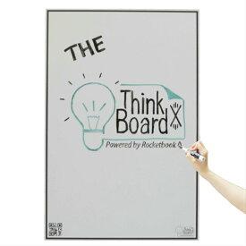 【シリコンバレーで愛される】シンクボード 次世代のホワイトボードシート クラウド型 ThinkBoard X Rocketbook ロケットブック 【ホワイトボード 壁掛け ステッカー】Largeサイズ