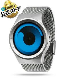 【ZIIIRO JAPAN公式】 ZIIIRO ジーロ 時計 マーキュリー シルバー/青【ドイツ デザインウォッチ】MERCURY Chrom/Ocean 腕時計 Z0002WS1 ユニセックス対応 ペア おしゃれ プレゼント