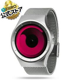 【ZIIIRO JAPAN公式】 ZIIIRO ジーロ 時計 マーキュリー シルバー/レッド【ドイツ デザインウォッチ】MERCURY Chrom/Magenta 腕時計 Z0002WS2 ユニセックス対応 ペア おしゃれ プレゼント