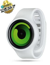 【ZIIIRO JAPAN公式】ZIIIRO ジーロ 時計 グラビティー 白 緑【ドイツ デザインウォッチ】正規品 Gravity Snow Green 腕時計 Z0001WASG ユニセックス対応 ペア おしゃれ プレゼント
