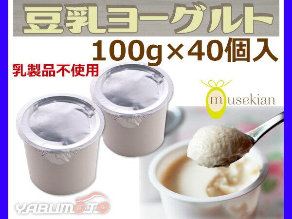 豆乳ヨーグルト 40個入 国産大豆 100% 6種の乳酸菌 乳製品不使用 ヨーグルト 1個38kcal 夢石庵 むせきあん 542