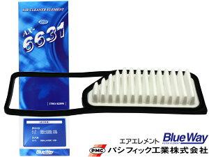 プレオ LA350F LA360F H29/5〜H30/8 エアエレメント エアー フィルター クリーナー パシフィック工業 BlueWay AX-6631