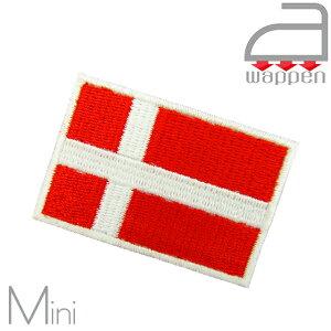 アイロンワッペン//Denmark デンマーク国旗 ミニサイズ (コペンハーゲン アンデルセン 北欧)