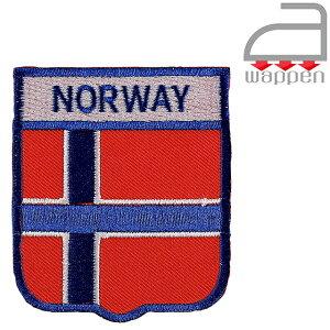 アイロンワッペン//ノルウェー国旗 エンブレムデザイン (オスロ Norway 北欧)
