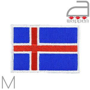 アイロンワッペン//アイスランド国旗 Mサイズ (Island ビョーク レイキャビク 北欧)