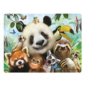 3Dポストカード【動物園の仲間の自撮り写真】