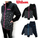 [Wilson]ウィルソン [ガールズ]ジャージ上下 [130-160cm][2色]WJ6152/キッズ&ジュニア/GIRLSジャージスーツ上下…
