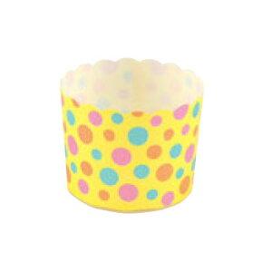 ペットマフィン(イエロードット)MS8802(100枚入)【業務用】【紙カップ】【ケーキカップ】