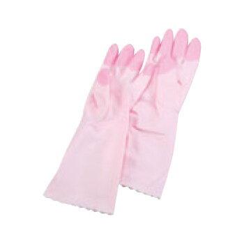 エステー ファミリービニール中厚手手袋 S ピンク【手袋】【作業手袋】【ビニール手袋】