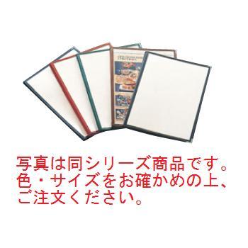 えいむ クリアテーピング メニューブック 合皮 LTB-48 赤【メニューブック】【お品書き】【メニューファイル】