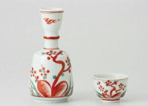 赤絵梅鳥文 酒杯(幸兵衛窯)