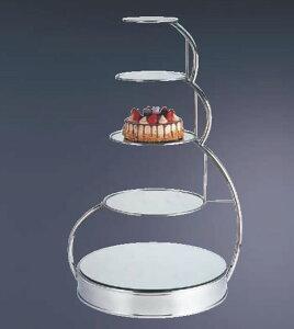UK18-85段ウェディングケーキスタンドA 0206 0015【代引き不可】【ウエディング用品】【バンケットウェア】【18-8ステンレス】【ケーキ台】【業務用厨房機器厨房用品専門店】