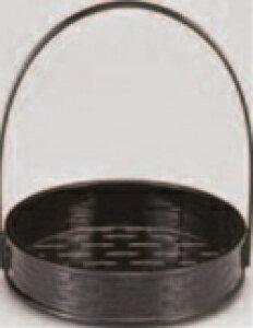 5.5寸一閑張籠 黒(折畳式)【和食器】【卓上演出小物】【盛り器】【盛器】【手提盛皿】【1-613-9】