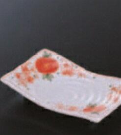 長角皿 赤絵【食器】【和食器】【陶器】【皿】【角皿】【長皿】【焼き魚】【魚皿】【H-8-74】