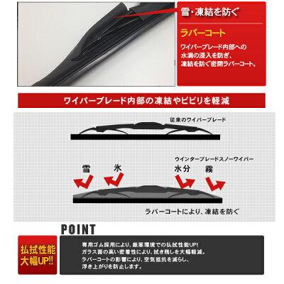 ワイパースノーワイパーU字フック325〜650mm2本セットサイズ選択【あす楽】【配送種別:B】
