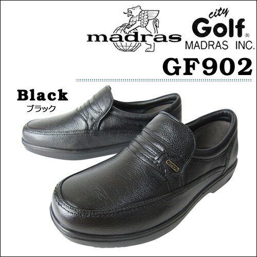 【GF902】【city GOLF】【送料無料】アッパー全て本革(キップ)☆軽量☆防滑☆衝撃吸収☆牛革スリッポンビジネスシューズ紳士靴