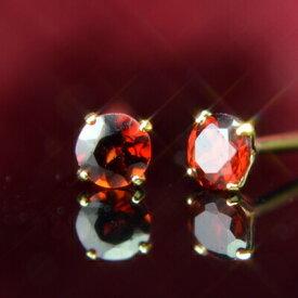 K18天然ガーネットピアス 3mm ガーネット ピアス K18 ピアス 18k ピアス 18金 1月誕生石