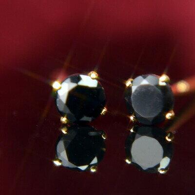 K18天然ブラックオニキスピアス 3mm ブラックオニキス ピアス K18 ピアス 18k ピアス 18金 8月誕生石
