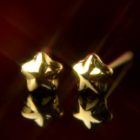 K18イエローゴールドスターピアス【小】【4mm】【ピアス】【スター】【星】【イエローゴールド】【18金】【K18】【k18】【ファーストピアス】【ニッケルフリー】
