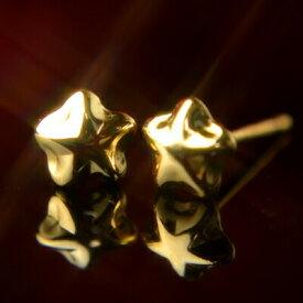 K18イエローゴールドスターピアス【大】【5mm】【ピアス】【スター】【星】【イエローゴールド】【18金】【K18】【k18】【ファーストピアス】【ニッケルフリー】