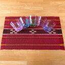 琉球ガラスセット 八重山ミンサー織り 大センター付き 源河源吉 海の泡ティータイムグラス 5個セット 石垣島産本場手織り 永遠の…