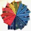 八重山ミンサー織り 小マットランチョンマット 赤 渋赤 黄 緑 青 紺 レッド ワインレッド イエロー グリーン ブルー ネイ…