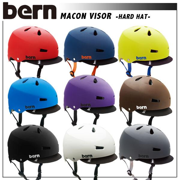 【送料無料】ヘルメット bern【バーン】MACON VISOR【自転車 バイク】