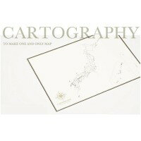 【代引き・同梱不可】大人の白地図 カルトグラフィー ポスター・A3サイズ 日本 5枚入×3セット CG-A3J【その他インテリア】