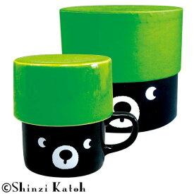 Shinzi Katoh アニマル フタ付きマグ&ボックスセット クマ ARK-1456-2【食器】