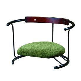 ルネセイコウ 日本製 スイングスツール 木板背当て付き 座ユー モスグリーン ZAU-04【家具 イス テーブル】