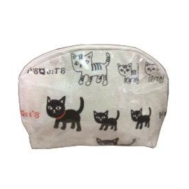グローバルビレッジ 猫グッズ ポーチ ポキート A アイボリー 537348【バッグ】