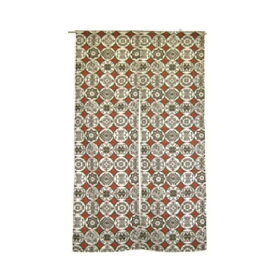グローバルビレッジ のれん 綿素材 タンジェール ブラウン/レッド 85×150cm 535849【敷物・カーテン】