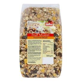【代引き・同梱不可】delba(デルバ) フルーツミューズリー 500g×12個セット【米・雑穀・パン・シリアル】