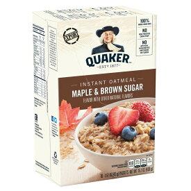 【代引き・同梱不可】QUAKER(クエーカー) インスタントオートミール メープルブラウンシュガー 430g(10袋入)×12個セット【米・雑穀・パン・シリアル】