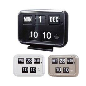 TWEMCO(トゥエンコ) 置き・掛け兼用 パタパタカレンダー時計 QD-35【置物・掛け時計】