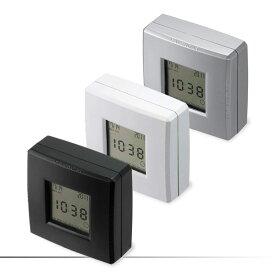 4ファン クション クロック(ミニ)【黒043048】【白043147】【シルバー040443】置用スタンド 時計 とけい