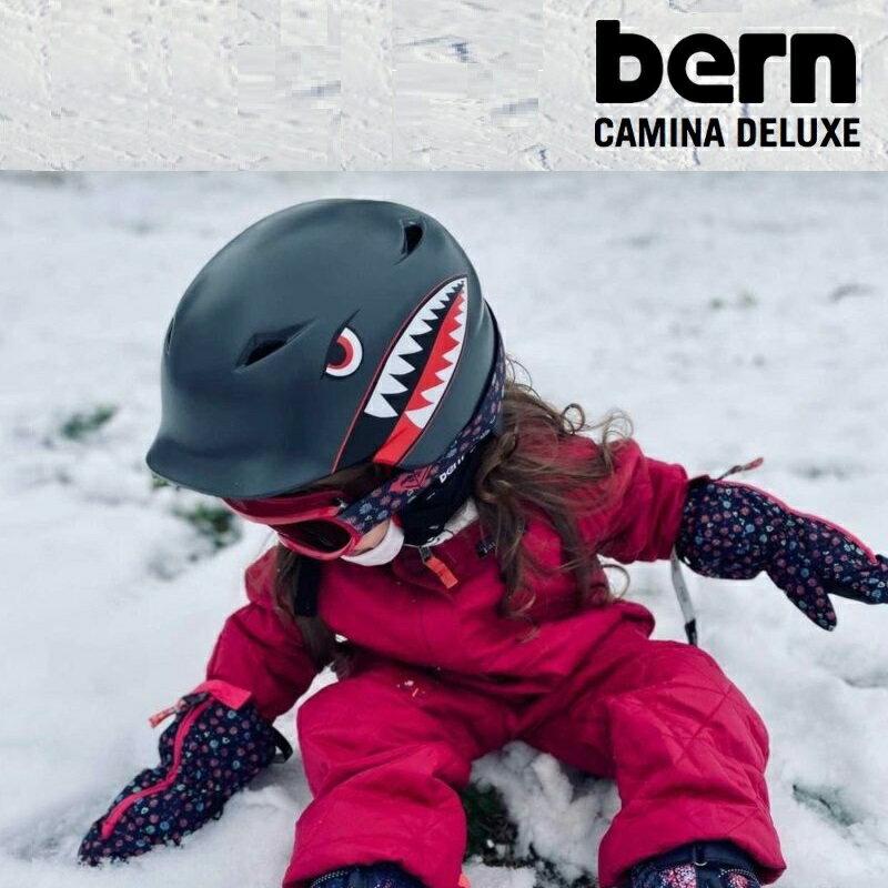 新商品 bern バーン CAMINO カミノ 冬用 子供用ヘルメット 耳あて付 自転車 キッズ ジュニア スノーボード スキー 雪山 ウインターモデル 男の子