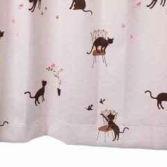 猫柄カーテン