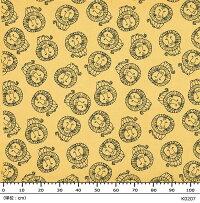 リサ・ラーソンオーダーカーテン洗えるデザインカーテンアニマル柄麻混幅200×丈120cm以内でサイズオーダーライオンK207K208(Ay)