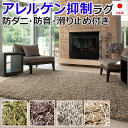 ロングシャギーラグ 四角形 四畳半 4畳半 4.5畳 4.5帖 約261×261cm 北欧 ラグ カーペット 日本製 スミトロ…