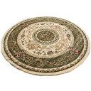 激安 じゅうたん 絨毯 ジュータン ラグ カーペット 円形 グリーン 緑 リビング センターラグ 応接室 応接間 約200cm円…
