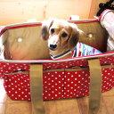 【犬 キャリーバッグ】水玉ボストンキャリーバックキャリーバッグ キャリーケース 犬用 猫用 ペットキャリー 小型犬【pet field】