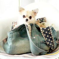 【予約注文】【犬キャリーバッグ】NEWデニムキャリーバックSサイズメッシュふた付かわいいペットキャリーchuchutaildenimCarryBag