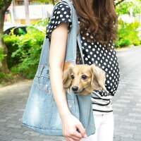 【犬キャリーバッグ】NEWデニムキャリーバックSサイズメッシュふた付かわいいペットキャリーchuchutaildenimCarryBag