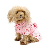梅の花リボン浴衣着物夏ドッグウェア犬服ペット用品
