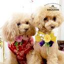 和風リボンチョーカー お正月 ドッグウェア 犬服 ペット用品