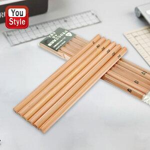 北星鉛筆 KITA-BOSHI PENCIL かきかた三角鉛筆 木軸ペンシル B/2B/4B/6B 6本入 OPP袋入 33355/33356/33357/33358